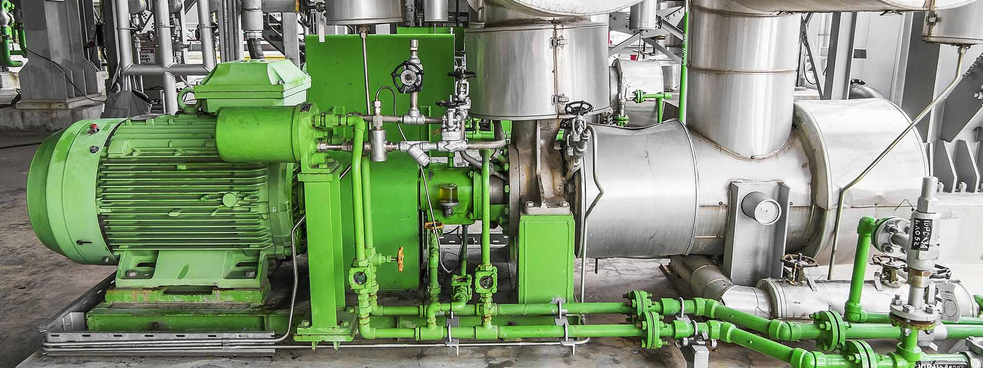 Green motor ready for testing